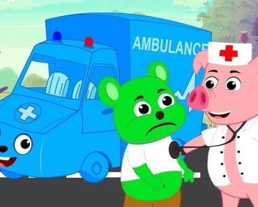 Gummy Bear & PetBods | My blue ambulance Petbods - Funny Cartoons For Children - gummy bear petbods my blue ambulance petbods funny cartoons for children