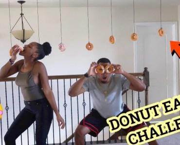 FUNNY DONUT EATING CHALLENGE!!! - funny donut eating challenge