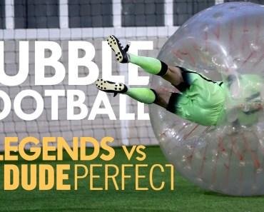 BUBBLE FOOTBALL | Manchester City Legends v The Dudes - bubble football manchester city legends v the dudes