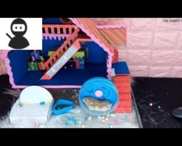 How to make a HAMSTER House from cardboard New 2018 - how to make a hamster house from cardboard new 2018