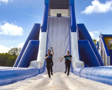 INSANE INFLATABLE OBSTACLE COURSE!!! - insane inflatable obstacle course