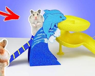 Aquapark für einen Hamster mit 3D Stift selber machen DIY - aquapark fur einen hamster mit 3d stift selber machen diy