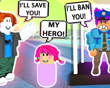 BACONMAN SAVES GIRL FROM BULLY POLICE OFFICER! Roblox Admin Commands | Roblox Funny Moments - baconman saves girl from bully police officer roblox admin commands roblox funny moments