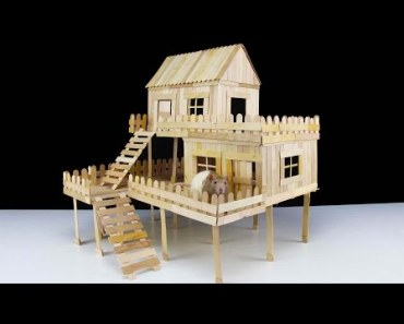 How to Make Popsicle Stick House for Rat - how to make popsicle stick house for rat