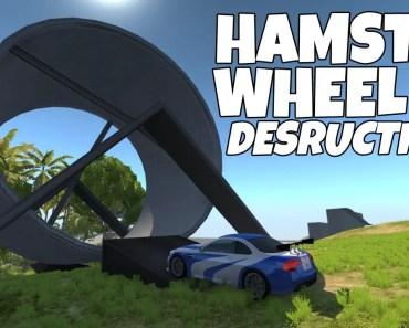 CAR SHREDDING HAMSTER WHEEL! BeamNG.Drive V-6 - car shredding hamster wheel beamng drive v 6
