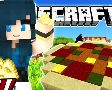 Minecraft - BUILDING PIZZA AND POPCORN! FOOD MANIA! - Team Build Battle (Minecraft Minigame) - minecraft building pizza and popcorn food mania team build battle minecraft minigame