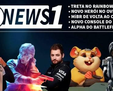 GNEWS #1 - Treta no R6. Volta da MiBR ao CS. Hamster no Overwatch. Console do Google! -