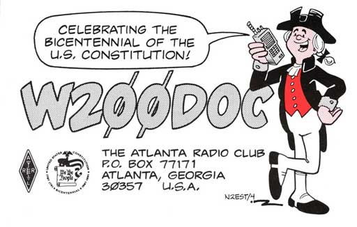 W200DOC ham radio cartoon QSL by N2EST