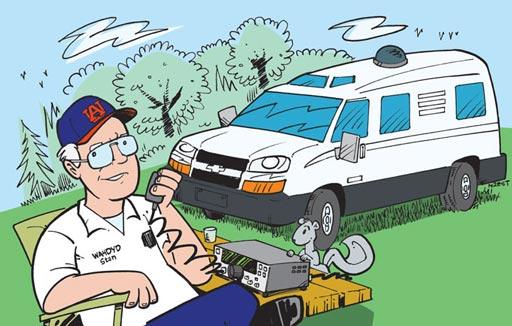 WA4DYD ham radio cartoon QSL by N2EST