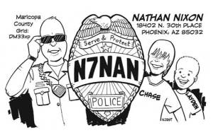 N7NAN cartoon QSL by N2EST