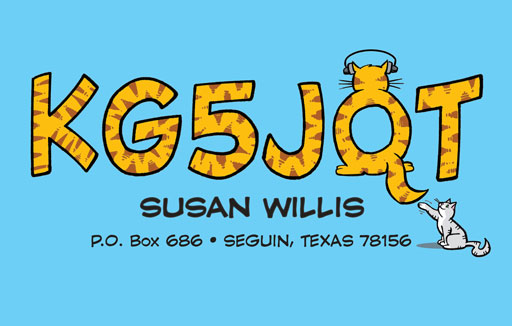 KG5JQT ham radio cartoon QSL by N2EST