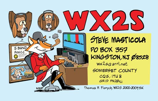 WX2S cartoon QSL by N2EST