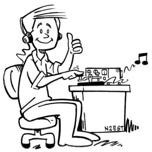 amateur radio CW operator Morse code cartoon by N2EST
