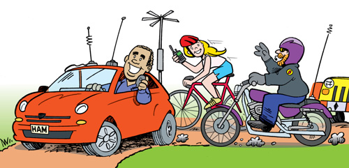 amateur radio mobile operators car cycle bike