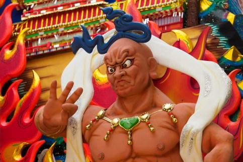 博多祇園山笠・上川端通の飾り山笠の写真