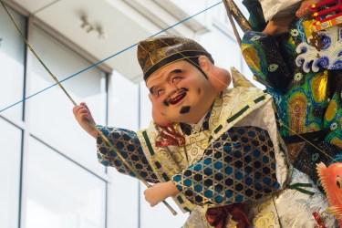 博多祇園山笠・博多リバレインの飾り山笠の写真