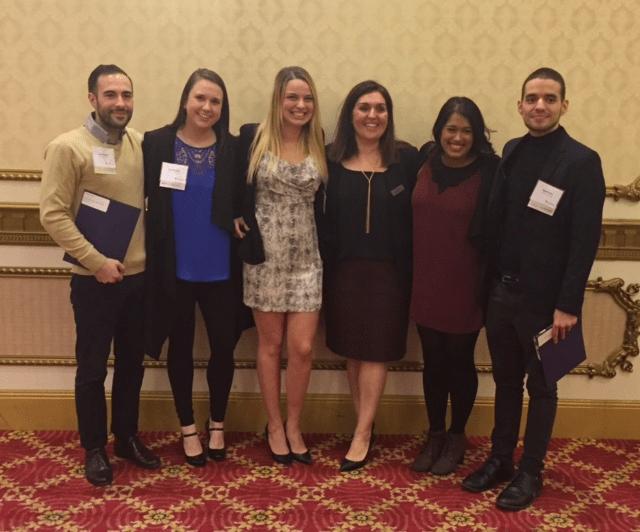Chad, Courtney, Rebecca, Faria, Martin. Bachelor of Commerce Leadership Award