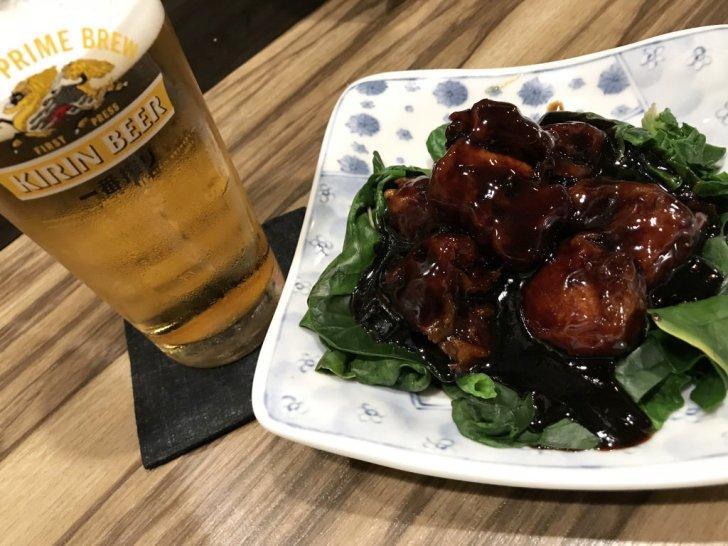 ビールが進む酢豚