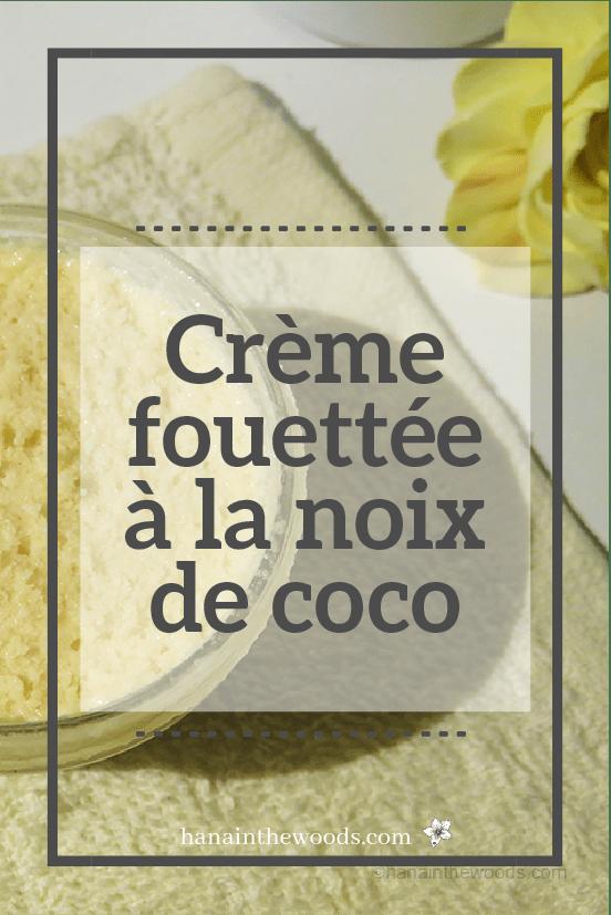 Crème fouettée à la coco