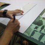 型紙製作風景