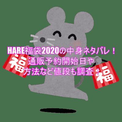 HARE福袋2020の中身ネタバレ!通販予約開始日や方法など値段も調査!3