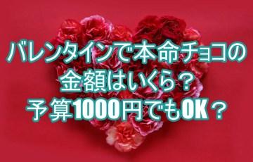 バレンタインで本命チョコの金額はいくら?予算1000円でもOK?6