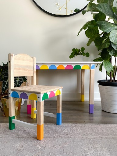 IKEA kids table and chair makeover