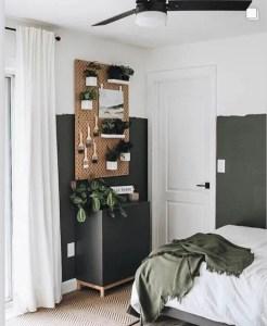Black organic half wall