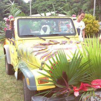 Hana Tropicals jeep at Aloha Week!