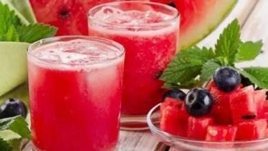 طريقة عمل عصير البطيخ بالنعناع الفريش في المنزل ... بالصور