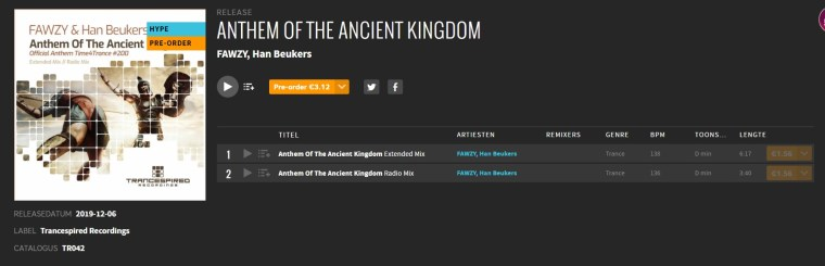 Anthem for the ancient Kingdom on beatport