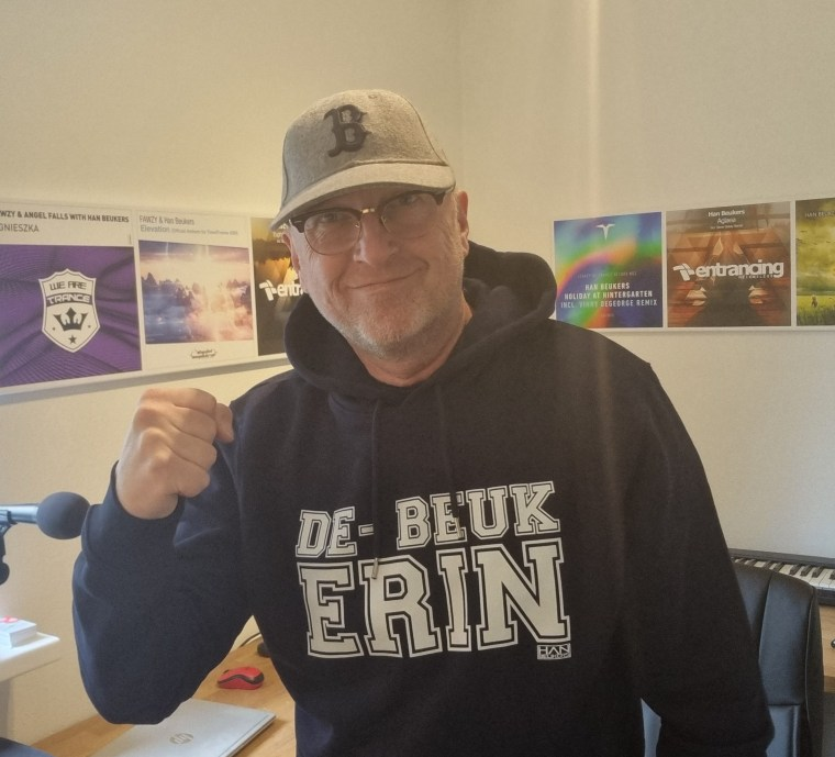 Navy Blue hoodie De Beuk Erin