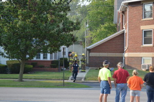 The United Methodist Church in McComb, Ohio, caught fire 1 Aug 14.
