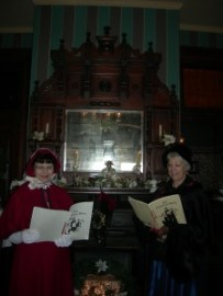 Mary & Linda at library mantle