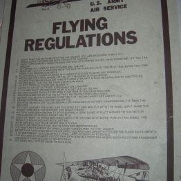 1919 flying regultions, John's rm