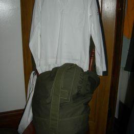Navy shirt & kit, John's rm