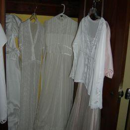 dresses in Olive's closet
