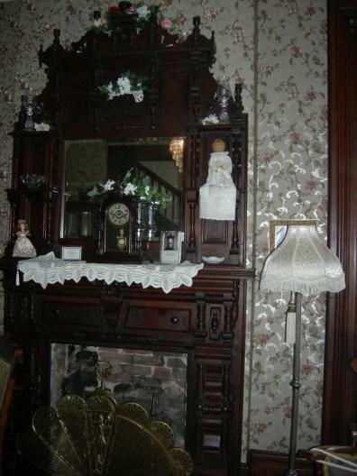 fireplace, parlor