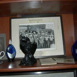 pic of veterans & war memorabilia, John's rm