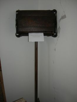 vintage carpet sweeper, display rm.