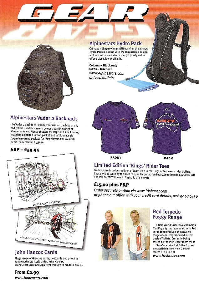 Product Review in Irish Racer Magazine