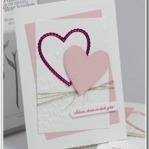 Grusskarten Basteln Im Fruhling Grusskarte Mit Washi Tape Herzen