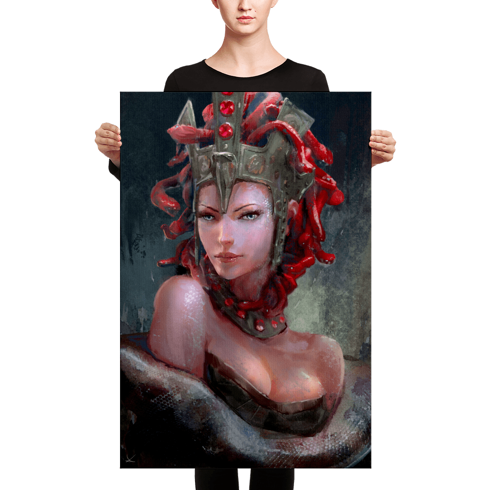 Beastly Beauties – Medusa Premium Canvas Print