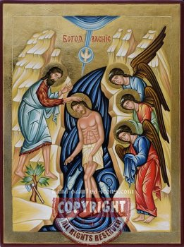 Baptism of Jesus Christ-hand-painted-icon
