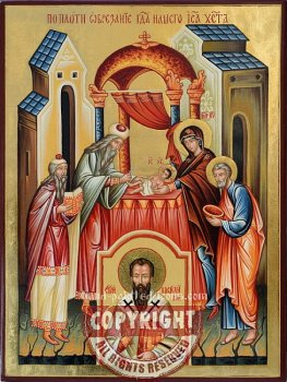 Circumcision of Jesus Christ-hand-painted-Orthodox-icon