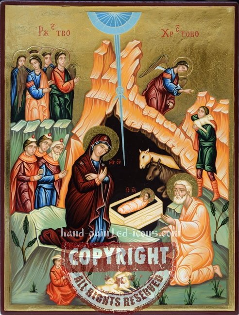 Nativity-hand-painted-Orthodox-icon