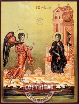 The Annunciation (v3)-Orthodox-icon-28x21