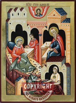 The Nativity of John the Baptist-hand-painted-icon