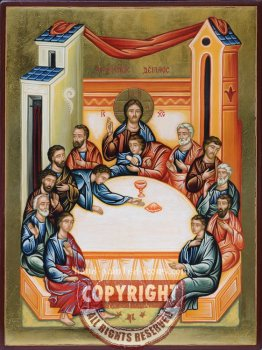 The last supper-hand-painted-icon-28x21