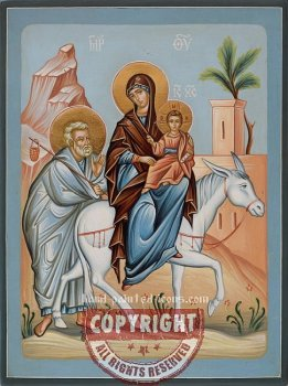 The Flight of the Holy Family into Egypt-orthodox-icon